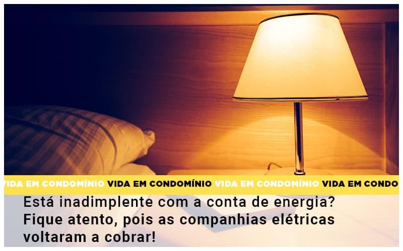 Esta Inadimplente Com A Conta De Energia Fique Atento Pois As Companhias Eletricas Voltaram A Cobrar