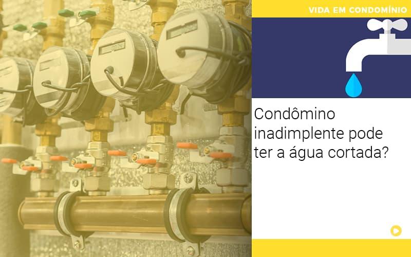 Condomino Inadimplente Pode Ter A Agua Cortada